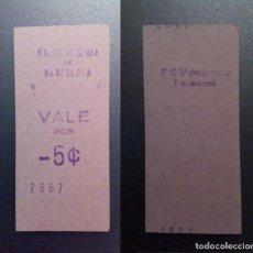 Monedas locales: VALE DE 5 CTS DE LOS F.C.METROPOLITANO DE BARCELONA . Lote 137309678