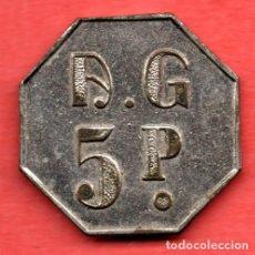 Monedas locales: FICHA DE 5 PTAS LOCAL DE ALTERNE - PROSTIBULO - VALENCIA. Lote 137550370