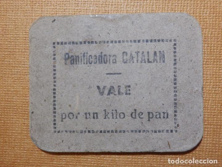 PANIFICADORA MELITON CATALÁN - CORELLA - LOGROÑO - VALE POR 1 KILO - KG.- DE PAN - GUERRA CIVIL - (Numismática - España Modernas y Contemporáneas - Locales y Fichas Dinerarias y Comerciales)