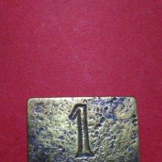 Monedas locales: FICHA/JETÓN/TOKEN. A IDENTIFICAR. 2,5 X 1,7 CM.. Lote 139452154
