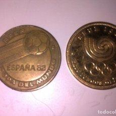 Monedas locales: 2 FICHAS -TOKEN DE ESPAÑA 82 Y SEUL 88. Lote 140298066
