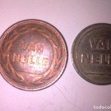 Monedas locales: 2 FICHAS -TOKEN VAN NELLE. Lote 140301810