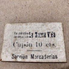 Monedas locales: RARO CUPÓN 10 CÉNTIMOS COOPERATIVA CONSUMO LA NUEVA VIDA LLUCHMAYOR LLUCMAJOR MALLORCA. Lote 140351778