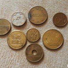 Monedas locales: LOTE DE 8 FICHAS. LAS DE LA FOTO. Lote 141296906