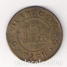 Monedas locales: PESETA DE VILARROSÉS-VICH. RARÍSIMO. ANTONI LÓPEZ-3062. (C75). Lote 141335034