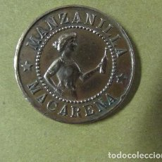 Monedas locales: MONEDA O FICHA COMERCIAL , PUBLICIDAD COÑAC CABALLERO MANZANILLA MACARENA , ORIGINAL . Lote 141339622