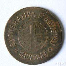 Monedas locales: FICHA MONEDA 10 CÉNTIMOS - 1933 - COOPERATIVA L'AMISTAT - MONTGAT -. Lote 142458354