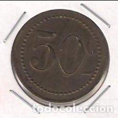 Monedas locales: ANTIGUA FICHA DE JUEGO DE 50 CÉNTIMOS. (C130). Lote 142686682