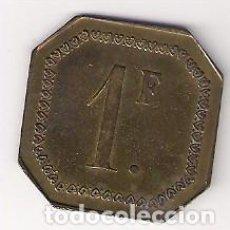 Monedas locales: FICHA ANTIGUA DE 1 FRANCO (C136). Lote 142693542