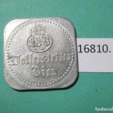 Monedas locales: FICHA CERVEZA, ALEMANIA, CONSUMICIÓN, MONEDA DE NECESIDAD, TOKEN, JETÓN. Lote 143106266