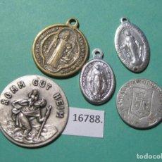Monedas locales: LOTE MEDALLAS RELIGIOSAS, TOKEN, JETÓN. Lote 143106646