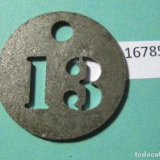 Monedas locales: FICHA GUARDARROPA O GUARDARROPÍA, TOKEN, JETON. Lote 143106722