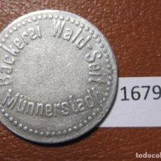 Monedas locales: FICHA PAN, ALEMANIA, MONEDA DE NECESIDAD, TOKEN, JETÓN. Lote 143155818