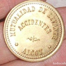Monedas locales: FICHA O TOKEN MUTUALIDAD DE LEVANTE ALCOY. Lote 143190448