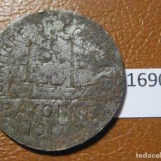 Monedas locales: FICHA CÁMARA DE COMERCIO BAYONA FRANCIA 1917 10 CÉNTIMOS, MONEDA DE NECESIDAD, TOKEN, JETÓN. Lote 143192414