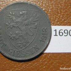 Monedas locales: GIESSEN ALEMANIA, 50 PFÉNNIG 1918 MONEDA DE NECESIDAD, FICHA, NOTGELD, TOKEN, JETÓN. Lote 143193126