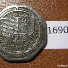 Monedas locales: OBERNDORF ALEMANIA, 10 PFÉNNIG 1918, MONEDA DE NECESIDAD, FICHA, NOTGELD, TOKEN, JETÓN. Lote 143194214