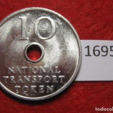 Monedas locales: FICHA TRANSPORTE INGLATERRA, NATIONAL TRANSPORT TOKEN, TOKEN, JETÓN. Lote 143345078