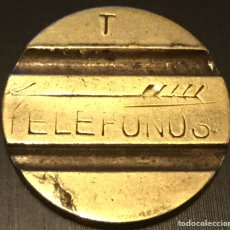 Monedas locales: ANTIGUA FICHA TELEFONO TELÉFONOS C T N E LETRA T COMPAÑÍA TELEFÓNICA NACIONAL ESPAÑOLA. Lote 143719070