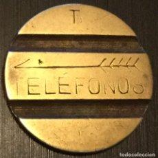 Monedas locales: ANTIGUA FICHA TELÉFONO LETRA T TELEFONOS DE LA COMPAÑÍA TELEFÓNICA NACIONAL ESPAÑOLA. Lote 143719688