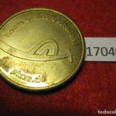 Monedas locales: FICHA PIZZA.DE, ALEMANIA, CONSUMICIÓN, MONEDA DE NECESIDAD, TOKEN, JETÓN. Lote 143942042