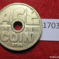 Monedas locales: FICHA, TOKEN, JETÓN. Lote 143942422