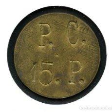 Monedas locales: FICHA, COOPERATIVA, P.C., VALOR: 15 P., SIN CATALOGAR, VARIANTE. Lote 144469806