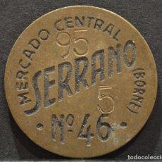 Monedas locales - SERRANO FICHA MONEDA MERCADO CENTRAL DEL BORNE BARCLEONA - 62226748