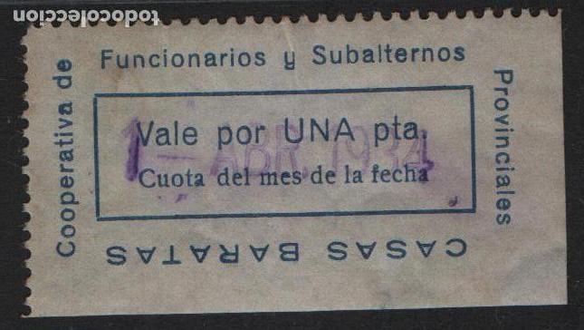 COOPERATIVA FUNCIONARIOS...,---CASAS BARATAS-- 1 PTA, VER FOTO (Numismática - España Modernas y Contemporáneas - Locales y Fichas Dinerarias y Comerciales)