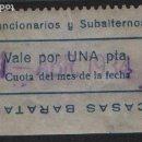 Monedas locales: COOPERATIVA FUNCIONARIOS...,---CASAS BARATAS-- 1 PTA, VER FOTO. Lote 145156558