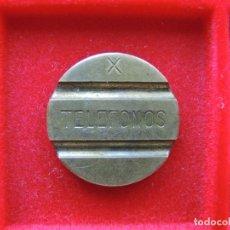 Monedas locales: FICHA - TOKEN 'TELEFONOS', SERIE 'X'. Lote 145702454