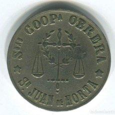 Monedas locales: 5 PESETAS. SOCIEDAD COOPERATIVA OBRERA SAN JUAN DE HORTA. Lote 145911282