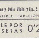 Monedas locales: VALE DE 20 CENTIMOS DE VIDRIERIA BARCELONESA SIN CIRCULAR . Lote 146315242