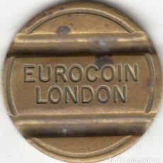 Monedas locales: FICHA TELEFONICA LONDRES - EUROCOIN / LONDON. Lote 147361070
