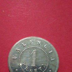 Monedas locales: FICHA/JETÓN/TOKEN. SOCIEDAD COOPERATIVA PARA EL SOCORRO OBRERO. VALENCIA. 1903. ESCASA.. Lote 147488618