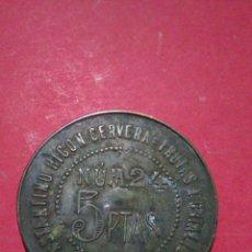 Monedas locales: FICHA/JETÓN/TOKEN. MERCADO DE ABASTOS. PUESTO 24. VALENCIA.. Lote 147494277