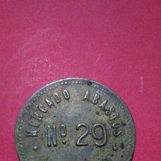 Monedas locales: FICHA/JETÓN/TOKEN. MERCADO DE ABASTOS. VALENCIA. PUESTO 29.. Lote 147494584