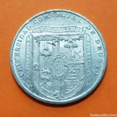 Monedas locales: FICHA UNIVERSIDAD COMERCIAL DE DEUSTO NO DE COOPERATIVA 50 CENTIMOS BILBAO VIZCAYA ALUMINIO LUJO. Lote 147674732