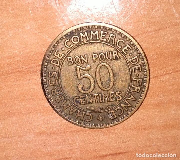 BONO DE LAS CÁMARAS DE COMERCIO DE FRANCIA 1922 FRANCESA DE 50 CMS (Numismática - España Modernas y Contemporáneas - Locales y Fichas Dinerarias y Comerciales)