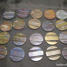 Monedas locales: 20 FICHAS TELEFONOS MARCADAS X SIN LIMPIAR. Lote 148157598