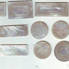 Monedas locales: LOTE DE FICHAS DE NACAR (MADREPERLA) JAPÓN SIGLO XIX. Lote 149436946