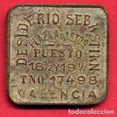 Monedas locales: FICHA 5 PESETAS DESIDERIO SEBASTIAN , MERCADO PLAZA DE ABASTOS VALENCIA , ORIGINAL , B26. Lote 149525246