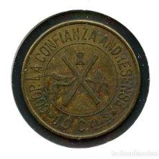 Monedas locales: FICHA, COOPERATIVA LA CONFIANZA ANDRESENSE, BARCELONA, VALOR: 10 CTS.. Lote 151462262
