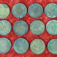 Monedas locales: COLECCIÓN DE 24 MONEDAS DE LATÓN. 10 CÉNTIMOS. COOPERATIVA DE MANLLEU. SIGLO XX. Lote 152405790