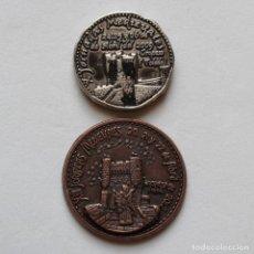 Monedas locales: 2 FICHAS PARA LOS MEDIEVALES DE OROPESA DE 2009 Y 2012. Lote 153097874