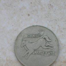 Monedas locales: ANTIGUA FICHA DE CASINO.5 PESETAS.. Lote 153119654