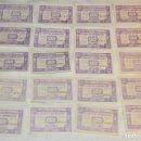 Monedas locales: 20X BILLETE GUERRA CIVIL DE 25 CTS - JUNIO 1937 - ALCAÑIZ - ALGUNOS CONSECUTIVOS - CONSEJO MUNICIPAL. Lote 153396382