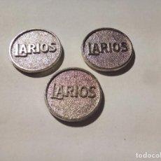 Monedas locales: LOTE DE TRES FICHAS LARIOS. Lote 153856842