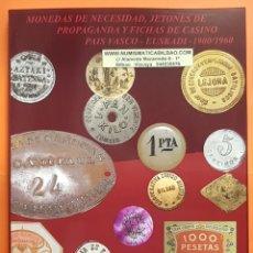 Monedas locales: NOVEDAD 2019 CATALOGO DE FICHAS DE COOPERATIVA, MONEDAS DE NECESIDAD Y JETONES BILBAO EUSKADI ESPAÑA. Lote 195178148