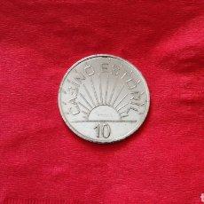 Monedas locales: FICHA DE 19 DEL CASINO DE ESTORIL. Lote 154382537